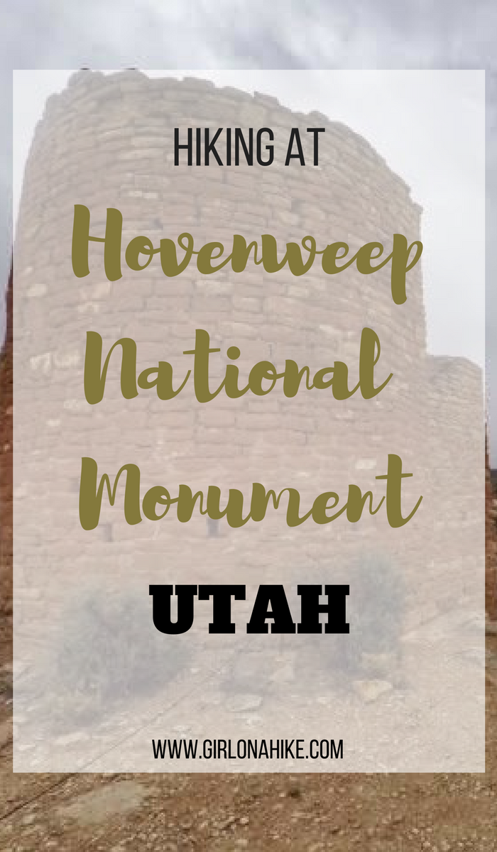 Hiking at Hovenweep National Monument, Utah