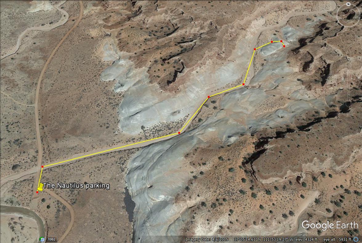 Hiking to The Nautilus trail map