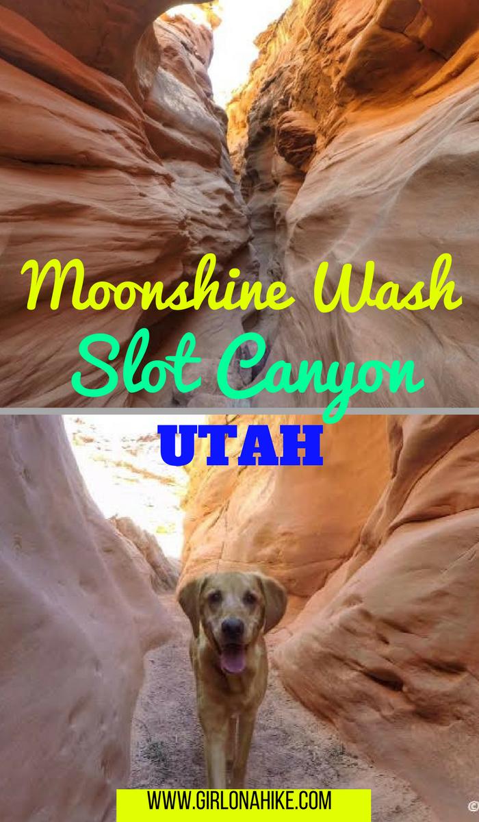 Hiking the Moonshine Wash Slot Canyon, Moonshine Wash San Rafael Swell, Utah Slot Canyons