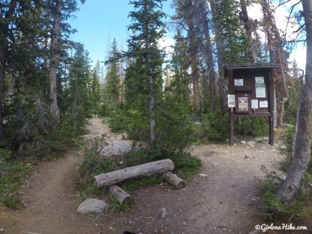 Hiking to Ruth Lake, Uintas