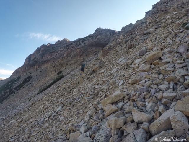 Hiking to Hayden Peak, Uintas