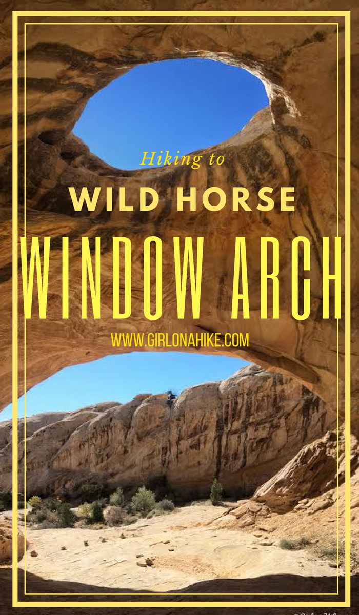 Hiking to Wild Horse Window Arch, San Rafael Swell, Uta