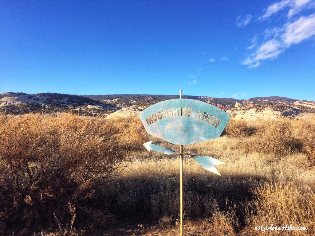 Hiking to Moonshine Arch, Vernal, Utah, Hiking in Utah with Dogs