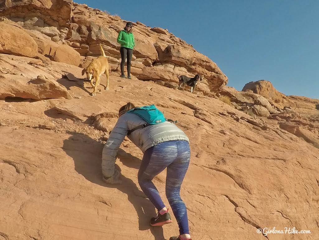 Hiking to Funnel Arch, Moab, Hiking in Moab with Dogs, Hiking in Utah with Dogs