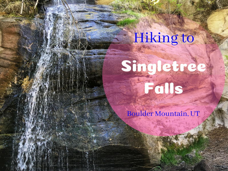 Hiking to Singletree Falls, Boulder Mountain