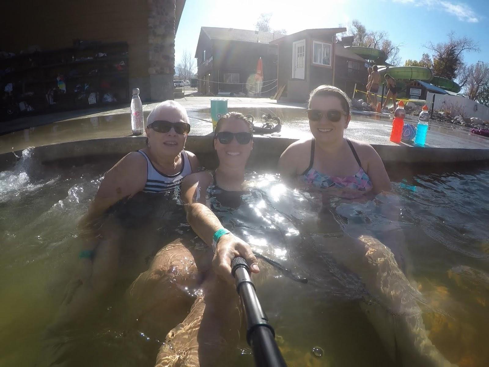 Soaking at Crystal Hot Springs, Hot Springs in Utah