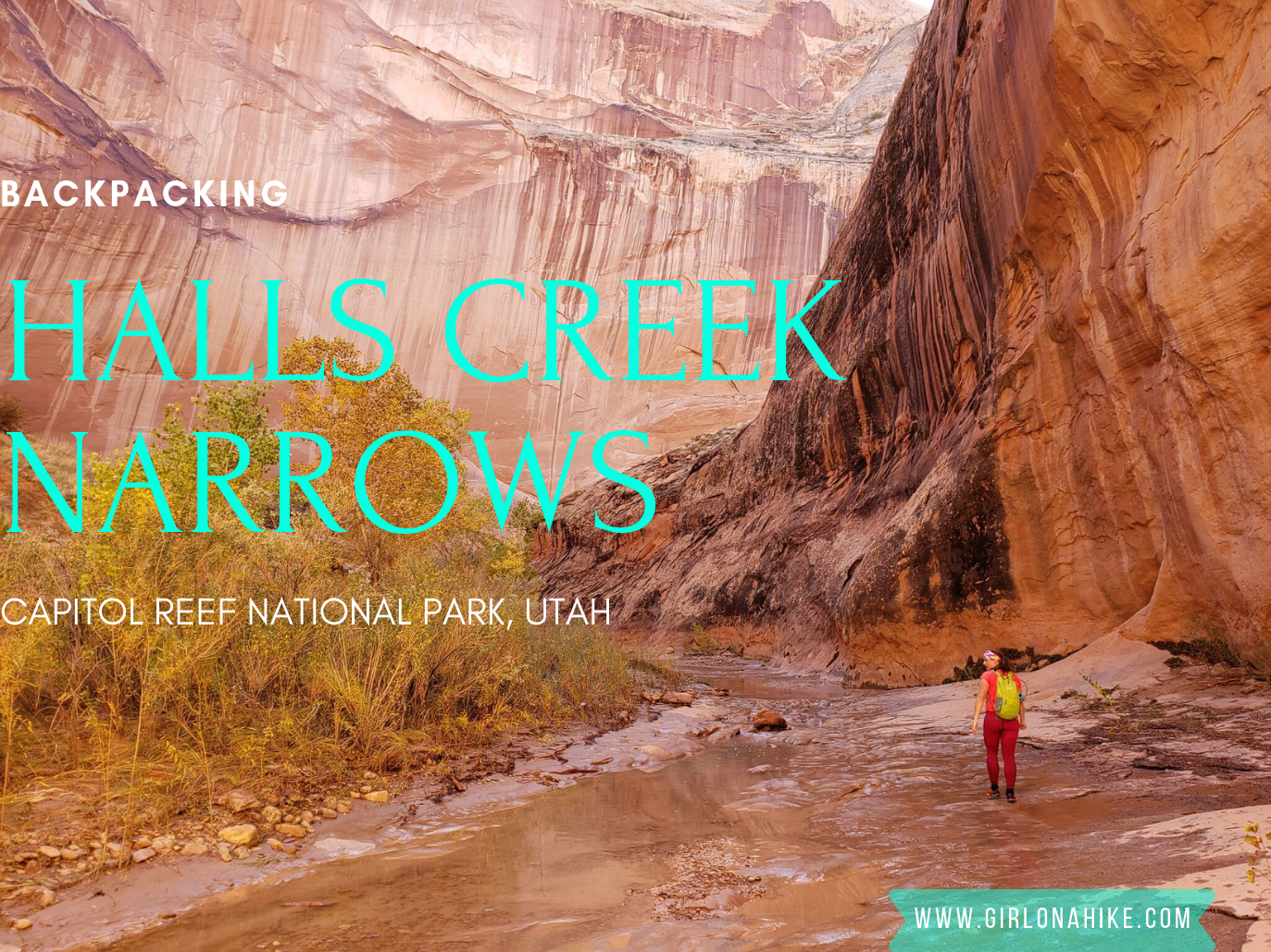 Backpacking Halls Creek Narrows, Capitol Reef National Park