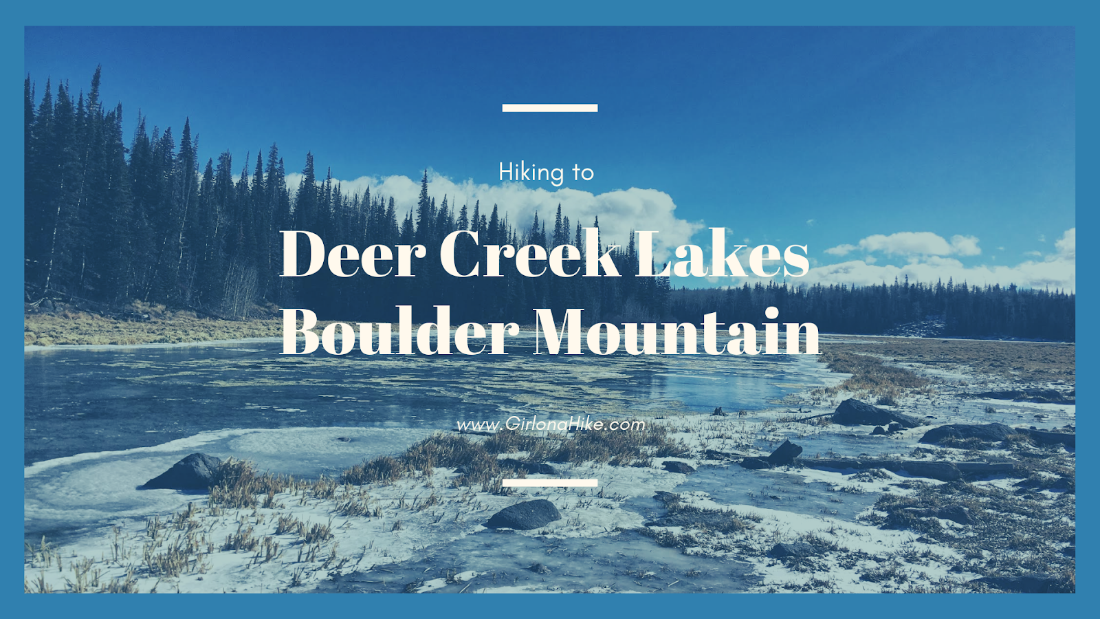 Hiking to Deer Creek Lakes, Boulder Mountain, Hiking on Boulder Mountain, Utah