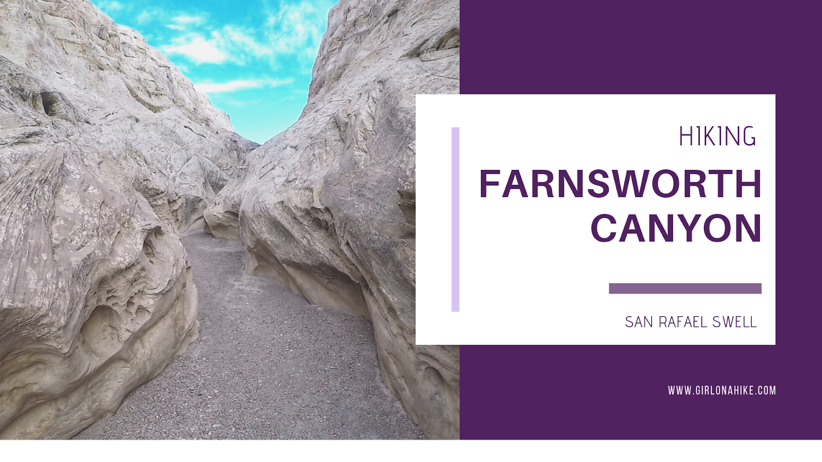 Hiking Farnsworth Canyon, San Rafael Swell