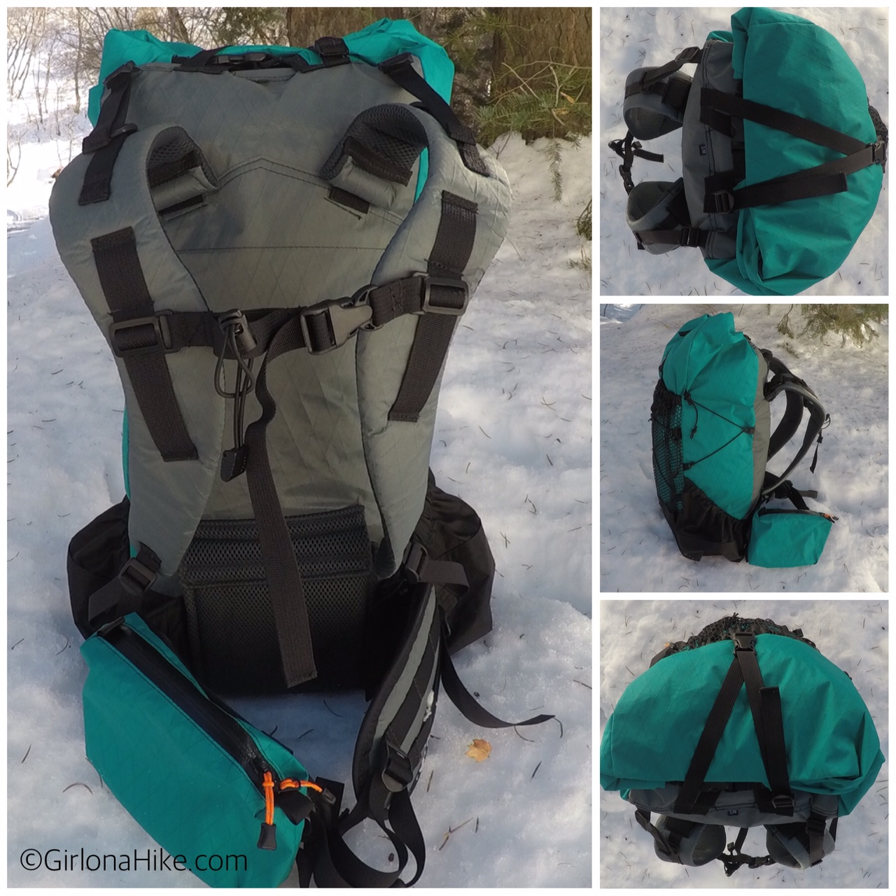 Waymark Gear Co. LITE 50 Liter Pack, Ultralight Thru Packs, Ultralight Backpacking, Ultralight Camping, Best UL Packs