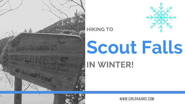 Hiking to Scout Falls - In Winter!