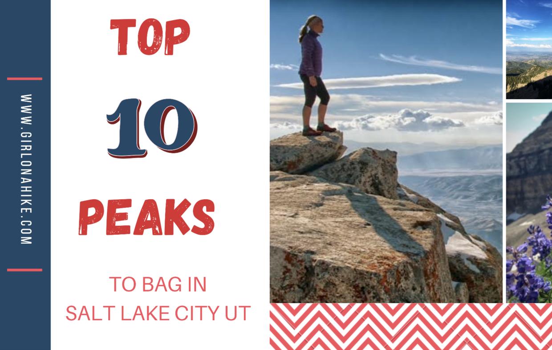Top 10 Peaks to bag in Salt Lake City, UT