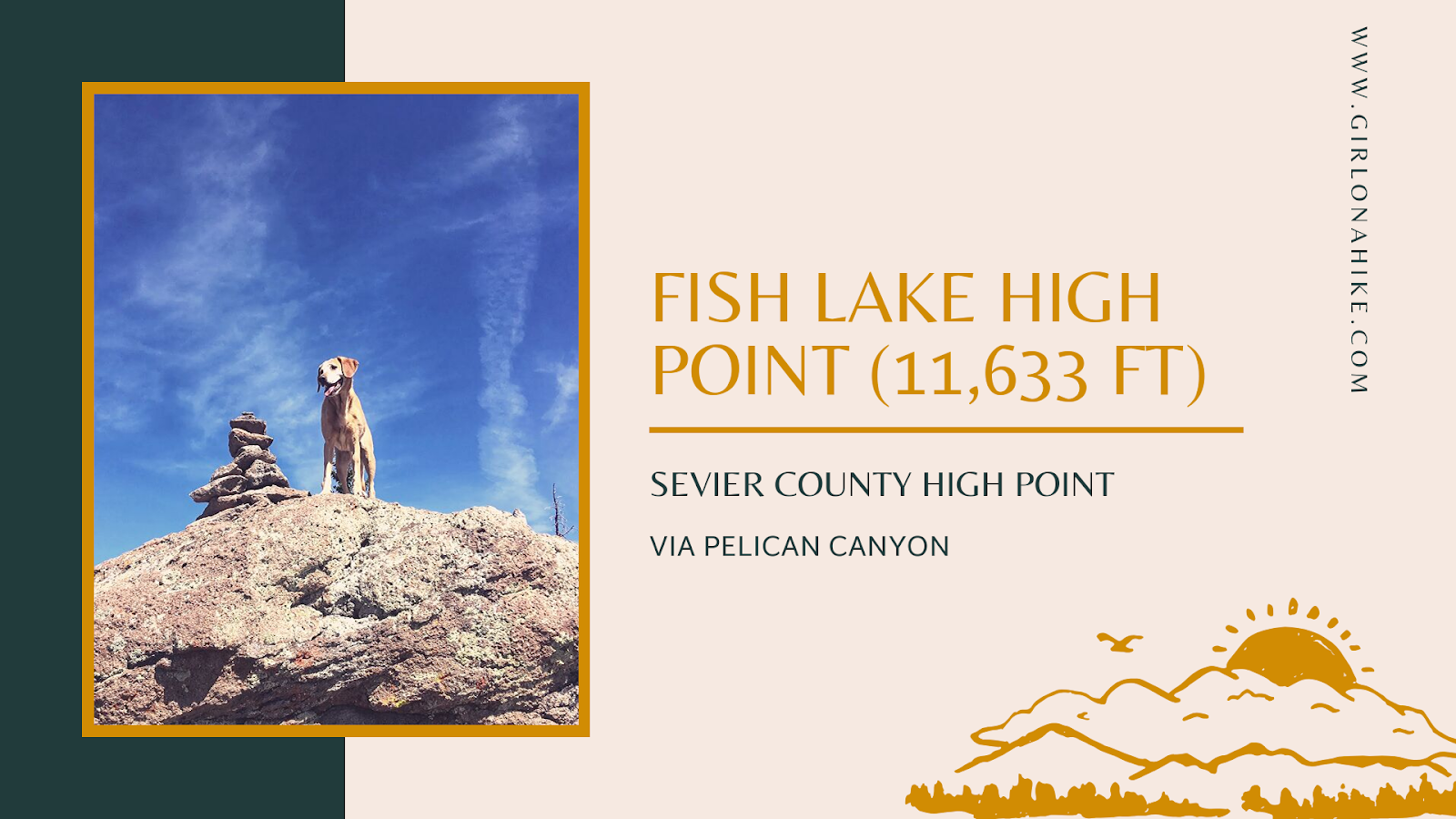 Hiking to Fish Lake Hightop, Sevier County High Point