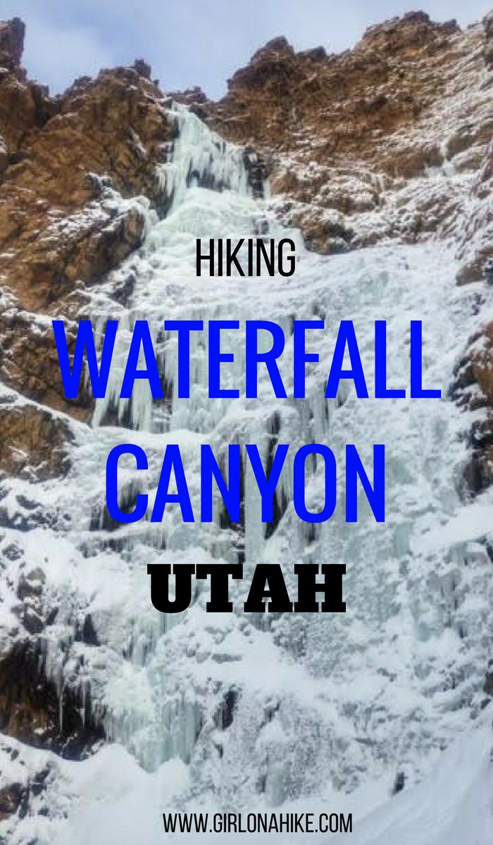Hiking Waterfall Canyon in Ogden, Utah, Hiking in Utah with Dogs, Frozen Waterfalls in Utah