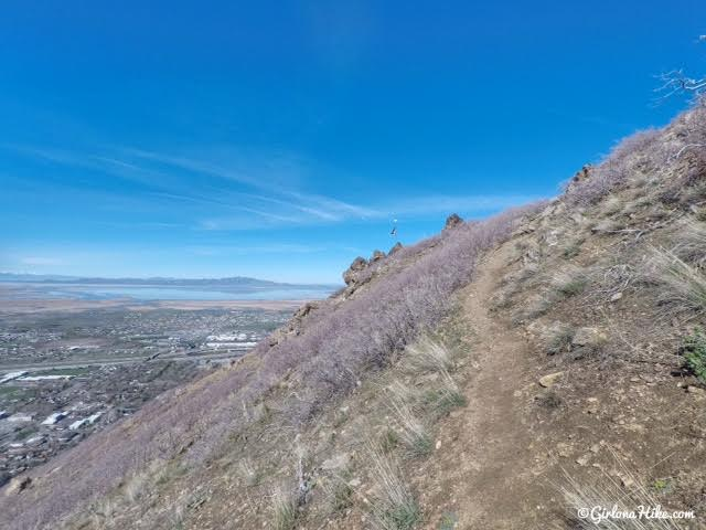 Hiking to Flag Rock in Farmington, Utah