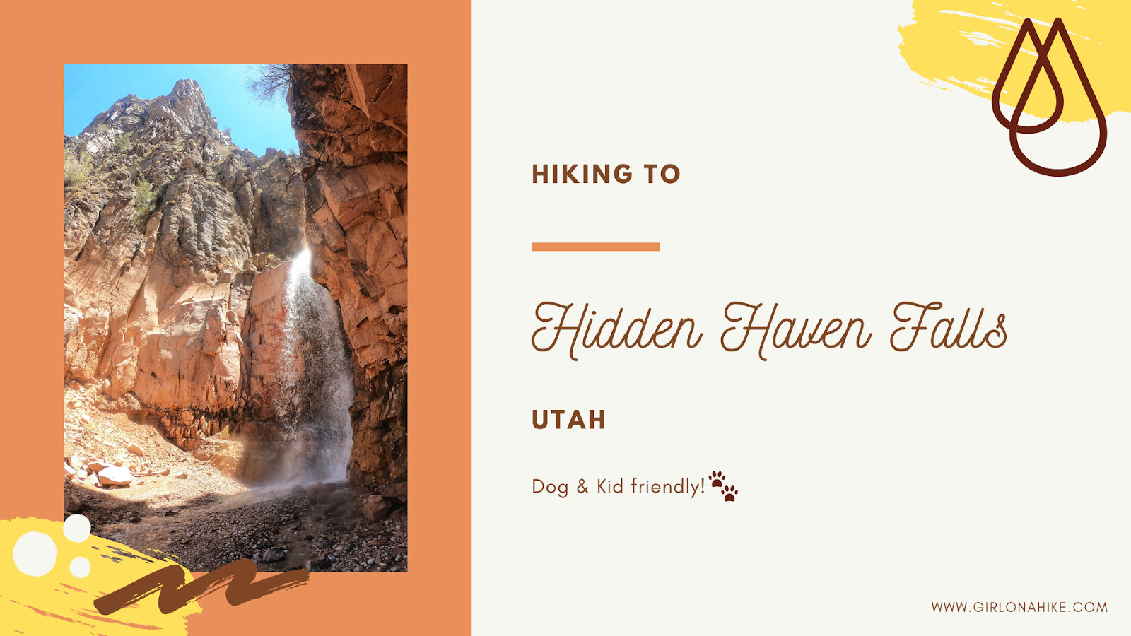 Hiking to the Hidden Haven Waterfall, Parowan, Utah waterfall, Brian Head waterfall, waterfalls in utah, waterfalls in southern utah, dog friendly utah waterfalls