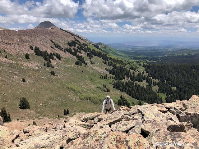 Hiking to Haystack Mountain, LaSal Mountains