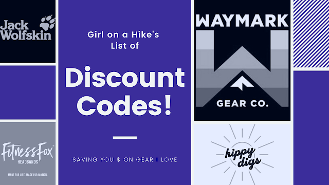 """Girl on a Hike"" List of Discount Codes!"