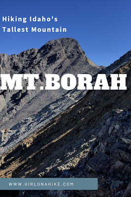 Hiking to Mt.Borah, Idaho State High Point