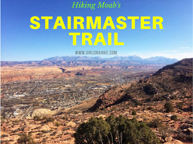 Hiking the Stairmaster Trail, Moab