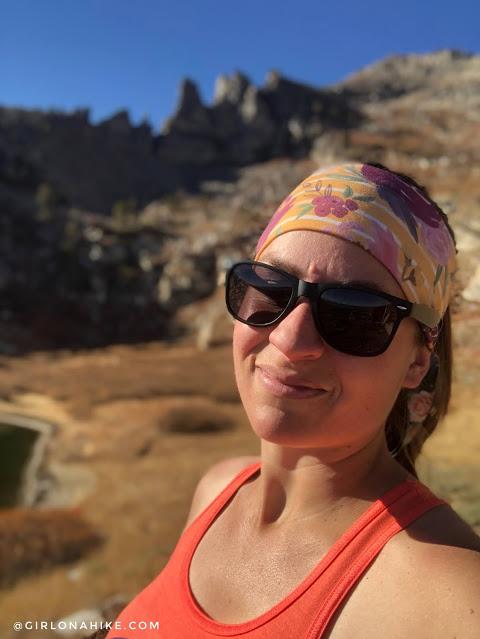 Hiking to Winchell Lake, Nevada, Fitness Fox Headbands coupon code