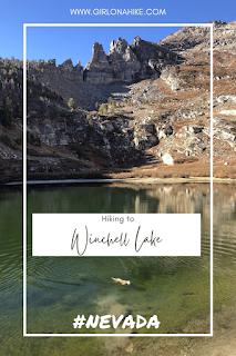 Hiking to Winchell Lake, Nevada, Angel Lake Rec Area, Nevada