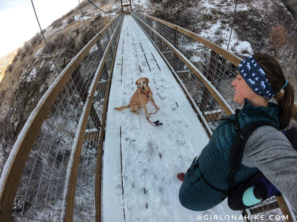 Hike to the Bear Canyon Suspension Bridge, Draper, UT