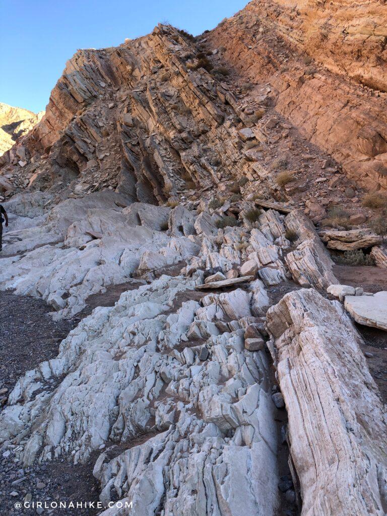 Hiking the Anniversary Narrows Slot Canyon, Nevada