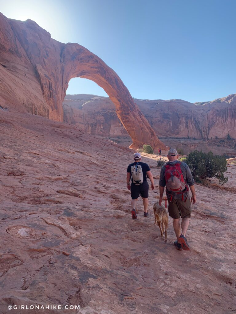 Hiking to Corona Arch, Moab