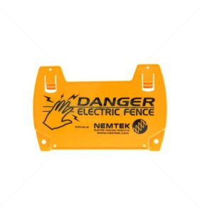 Nemtek Warning Sign For Electric Fence. For sale at FarmAbility South Africa