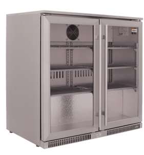 SnoMaster 220L Stainless Steel Two Door Alfresco Beverage Cooler (SD-220SS). For sale at FarmAbility South Africa