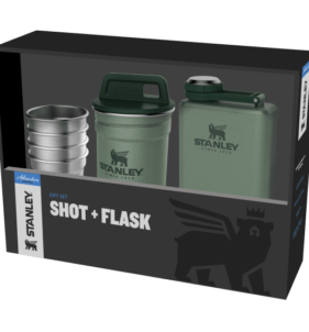 Stanley Hip Flask with Shot Glasses. For sale at FarmAbility South Africa