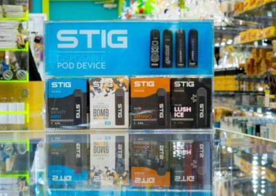 4 Stig disposable pod devices boxes