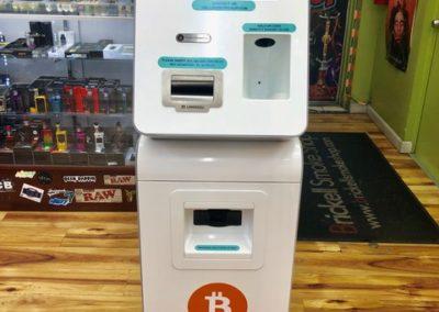 Bitcoin ATM inside a smoke shop