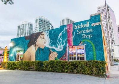 World of Smoke n Vape at Brickell Miami from outside