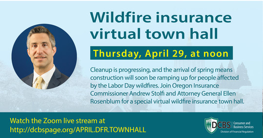 Wildfire Insurance Town Hall flyer