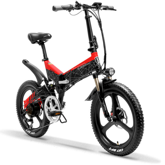 g650 red 104ah folding bicycle full suspension 7 s 10513