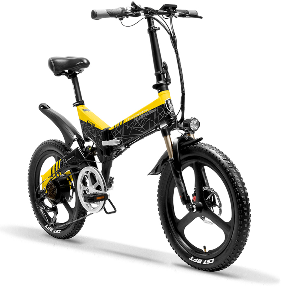 g650 yellow 104ah folding bicycle full suspension 10497