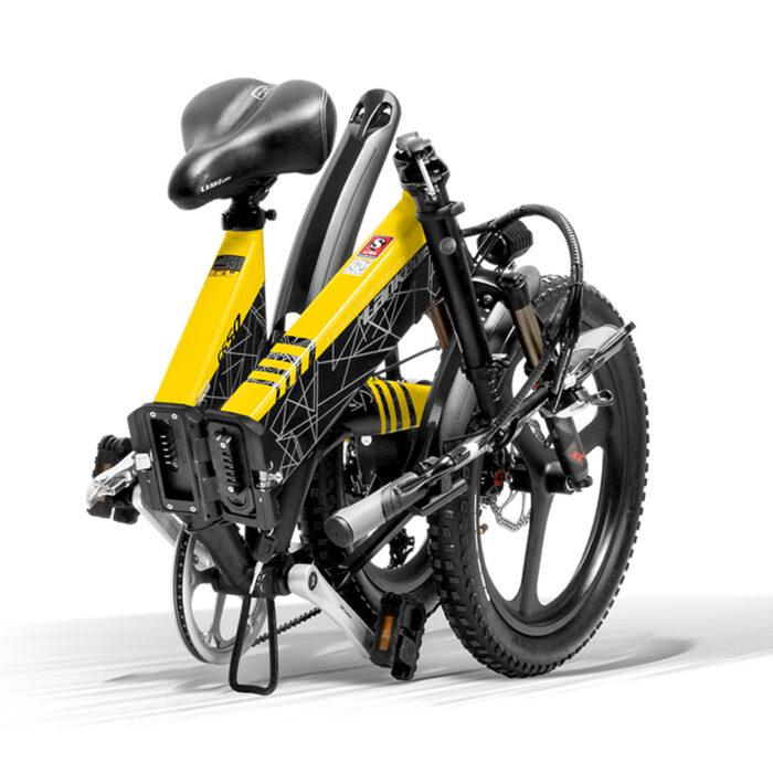 g650 yellow 104ah folding bicycle full suspension 10498