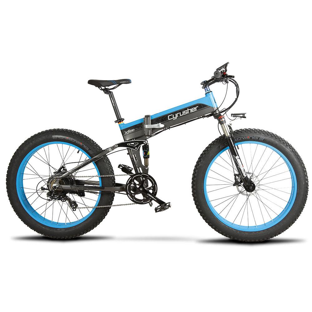 xf690 blue black 500w 48v 10ah 7sp fat tire electr 10103
