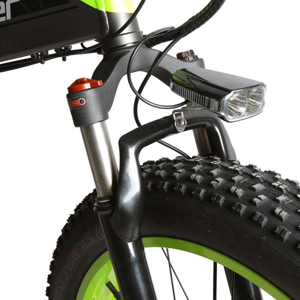 xf690 green black 500w 48v 10ah 7sp fat tire elect 10099