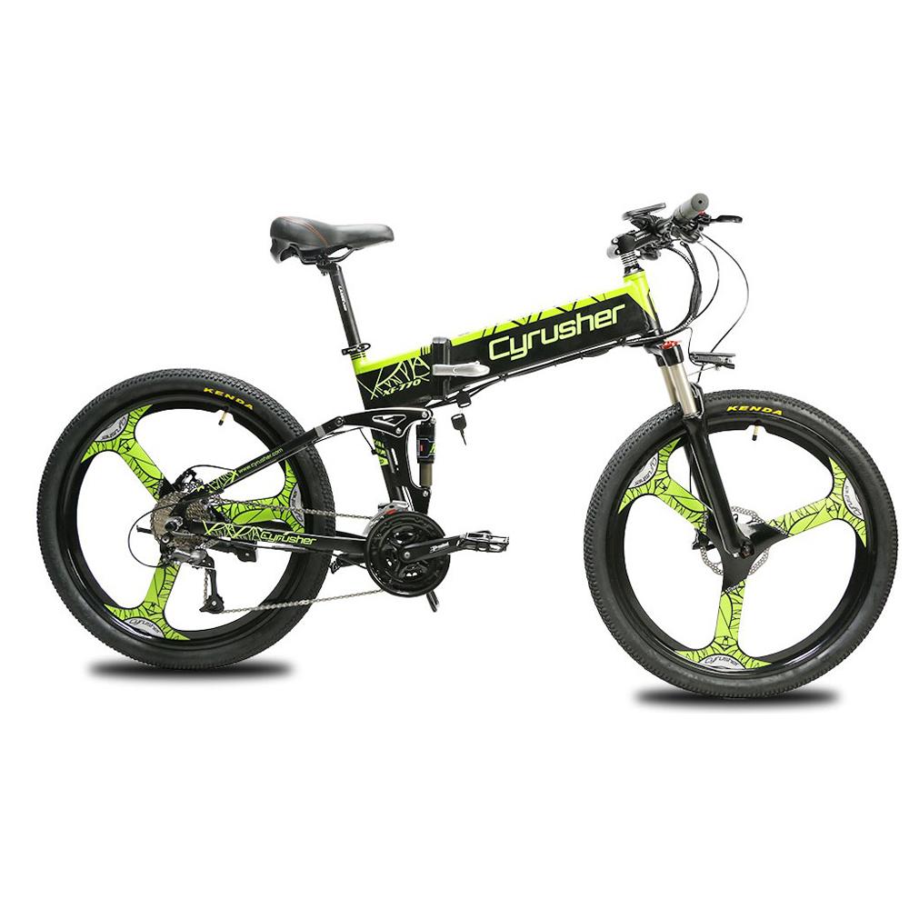 xf770 green folding electric mountain bike full su 10165
