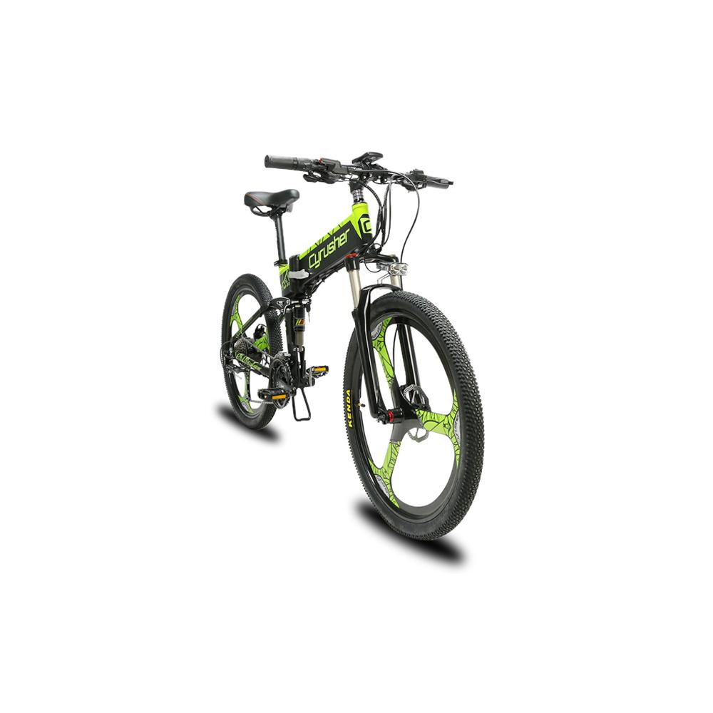 xf770 green folding electric mountain bike full su 10166