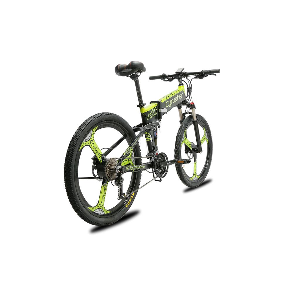 xf770 green folding electric mountain bike full su 10167