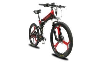 xf770 red folding electric mountain bike full susp 10160