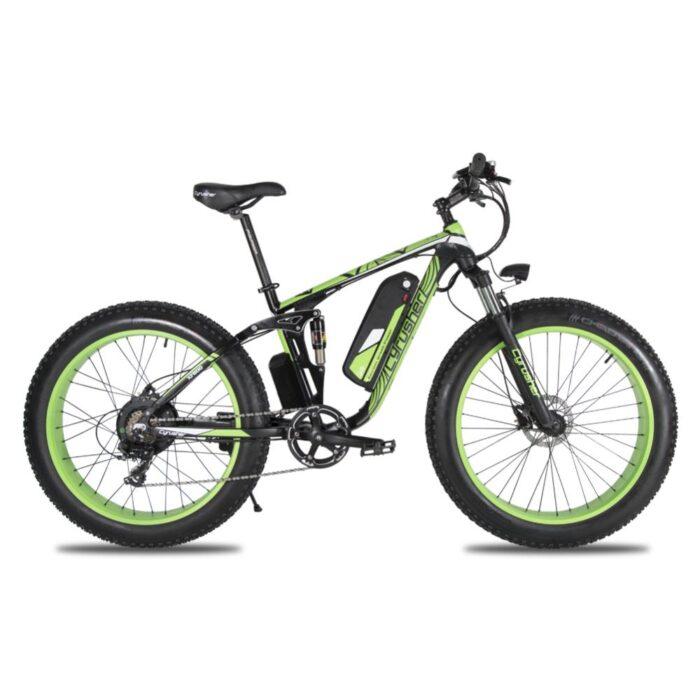 xf800 green 1000w 48v fat tire mountain e bike ful 10013