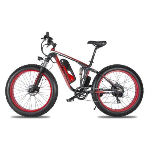 xf800 red 1000w 48v fat tire mountain e bike full 10015 1