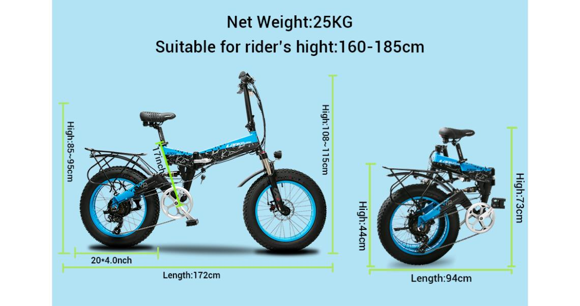 XF3000 eBike Weight and Height Specs