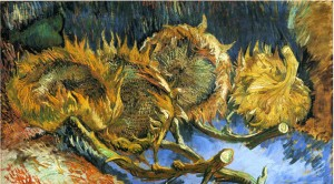 Vincent van Gogh, Still life with four sunflowers.