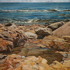 Video of my new painting, Rocks and Water as Metaphor for Life's Journey.